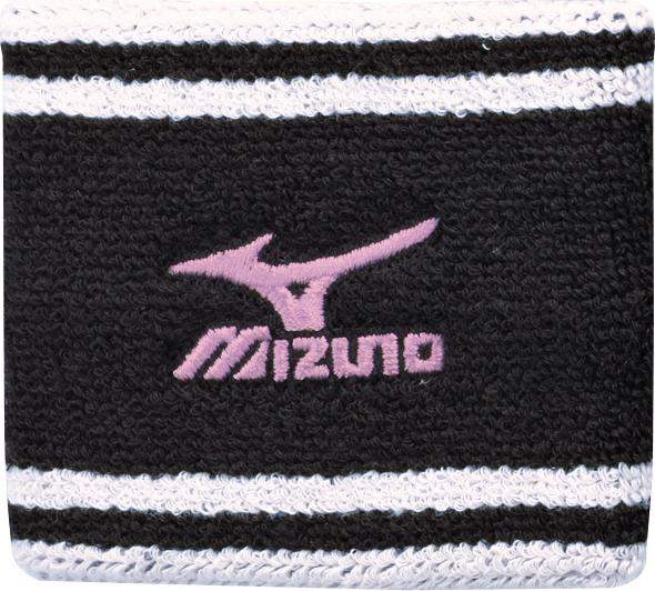 MIZUNO 美津濃 毛巾布吸汗護腕(黑*白*粉/一雙入) 包覆性彈性佳