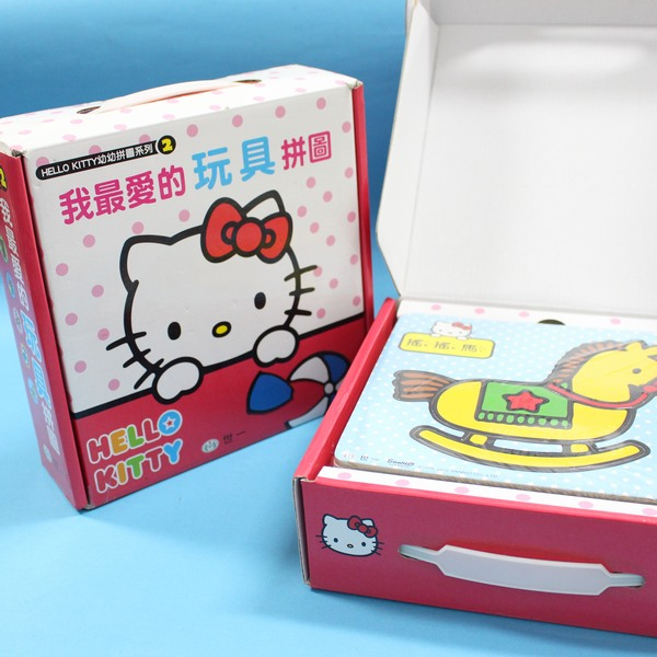 Hello Kitty凱蒂貓拼圖 世一C678122KT幼幼拼圖 我最愛的(玩具拼圖.六款手提禮盒)MIT製/一盒入{特220}~正版授權~