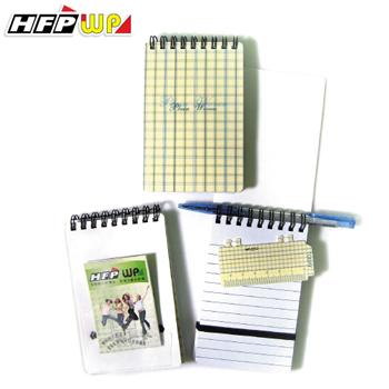 HFPWP 黃格子 口袋型筆記本100張內頁附索引尺台灣製 N3351PC / 本
