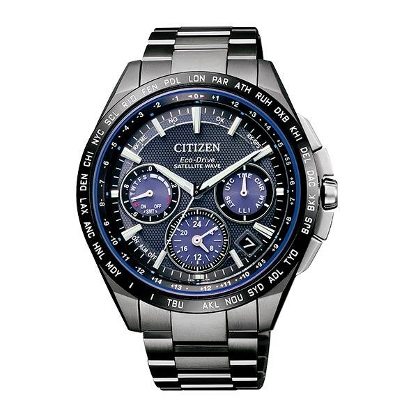 CITIZEN星辰CC9017-59L 40週年年廣告款鈦金屬GPS衛星對時腕錶/黑藍(加贈錶帶)44mm
