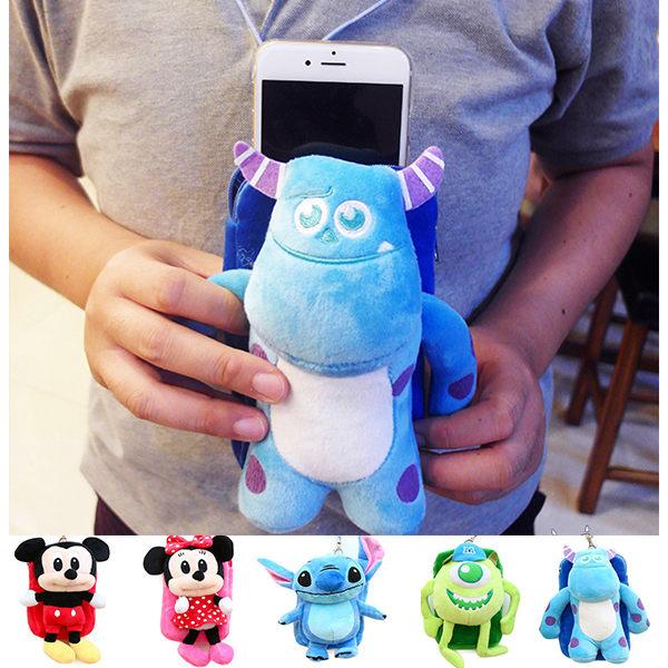 小熊日系* 迪士尼玩偶手機袋 觸控包 收納包 隨身包 米奇米妮 毛怪大眼仔 史迪奇