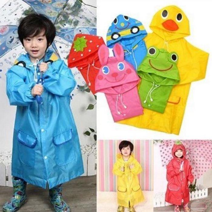 tangyizi輕鬆購【DS104】日系輕巧可愛卡通造型兒童雨衣 附收納袋