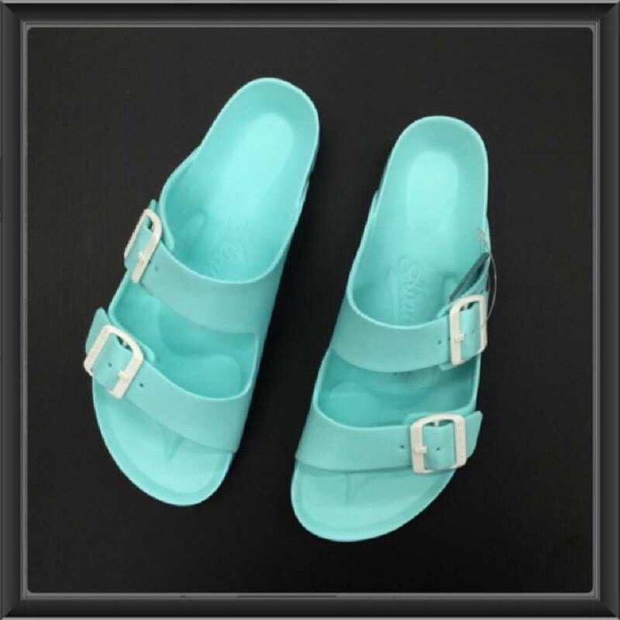 ※555鞋※ AIR WALK 雙槓 可調式拖鞋 2016全新 運動拖鞋 海灘拖鞋 湖水綠 特價490元