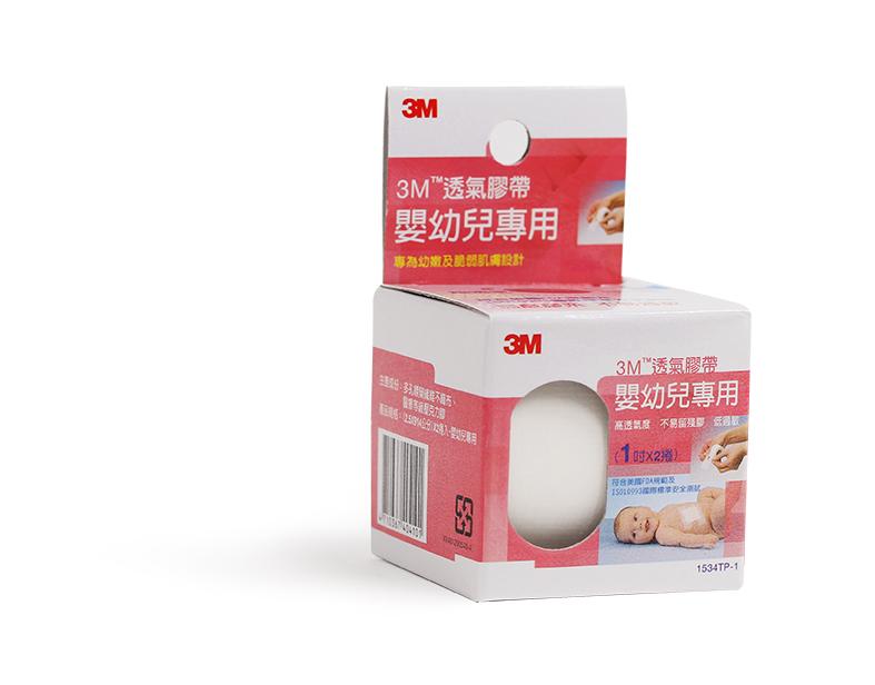 【醫康生活家】3M 嬰幼兒專用 透氣膠帶 1吋x2捲