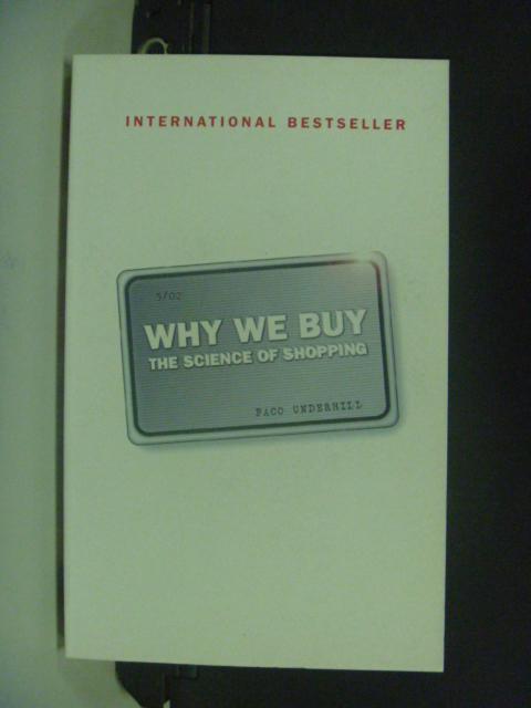 【書寶二手書T6/原文書_NIY】Why We Buy: The Science of Shopping