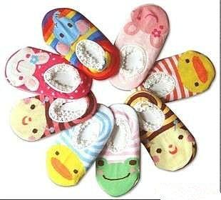 =優生活=日本原單 嬰兒卡通防滑襪 嬰兒船襪 大象 黃色小鴨 青蛙 兔子 襪子 不挑款