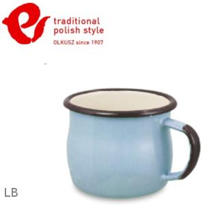 Emalia Olkusz 波蘭百年琺瑯杯/牛奶杯/琺瑯馬克杯250ml TPS 粉藍 LB