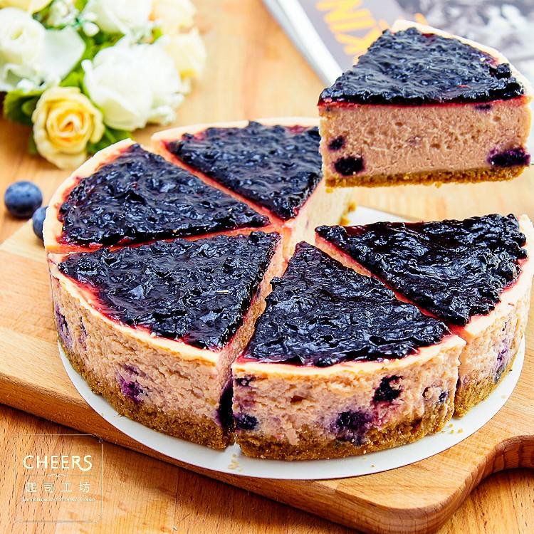 【CHEERS 起司工坊】藍莓重乳酪蛋糕6吋~清新藍莓,微酸香甜!濃郁起司搭佐新鮮藍莓餡,層次豐富,一口接一口,輕甜無負擔!  [ 慶生、野餐甜點、下午茶時光、團購、伴手禮首選]