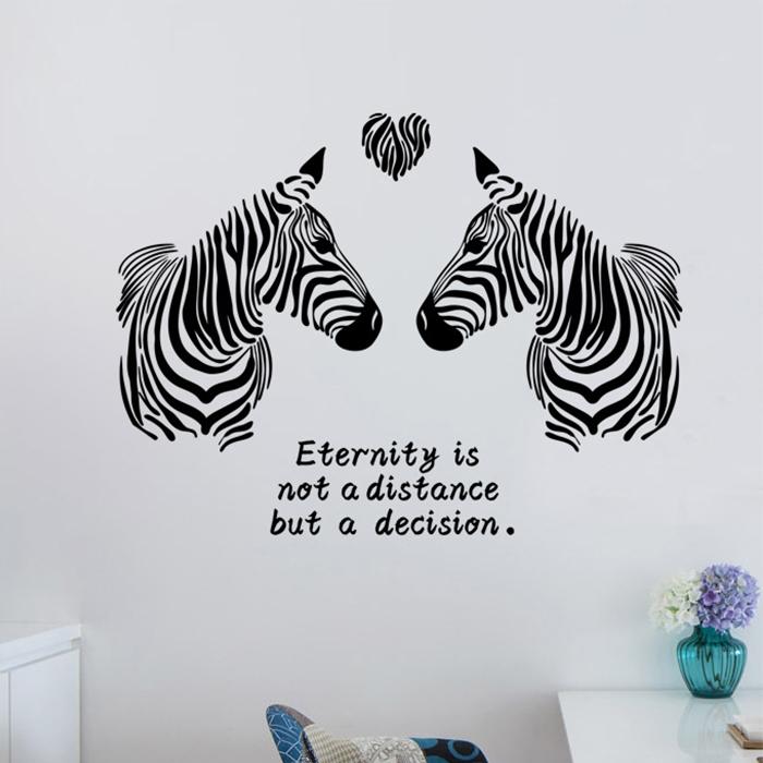 DIY無痕壁貼 藝術斑馬 牆貼 創意壁貼【YV6774】快樂生活網