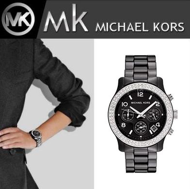 美國Outlet正品代購 MichaelKors MK 陶瓷 水鑽 三環 手錶 腕錶 MK5190