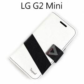 【Dapad】星光紋雙色支架皮套 [白+黑] LG D620k G2 mini
