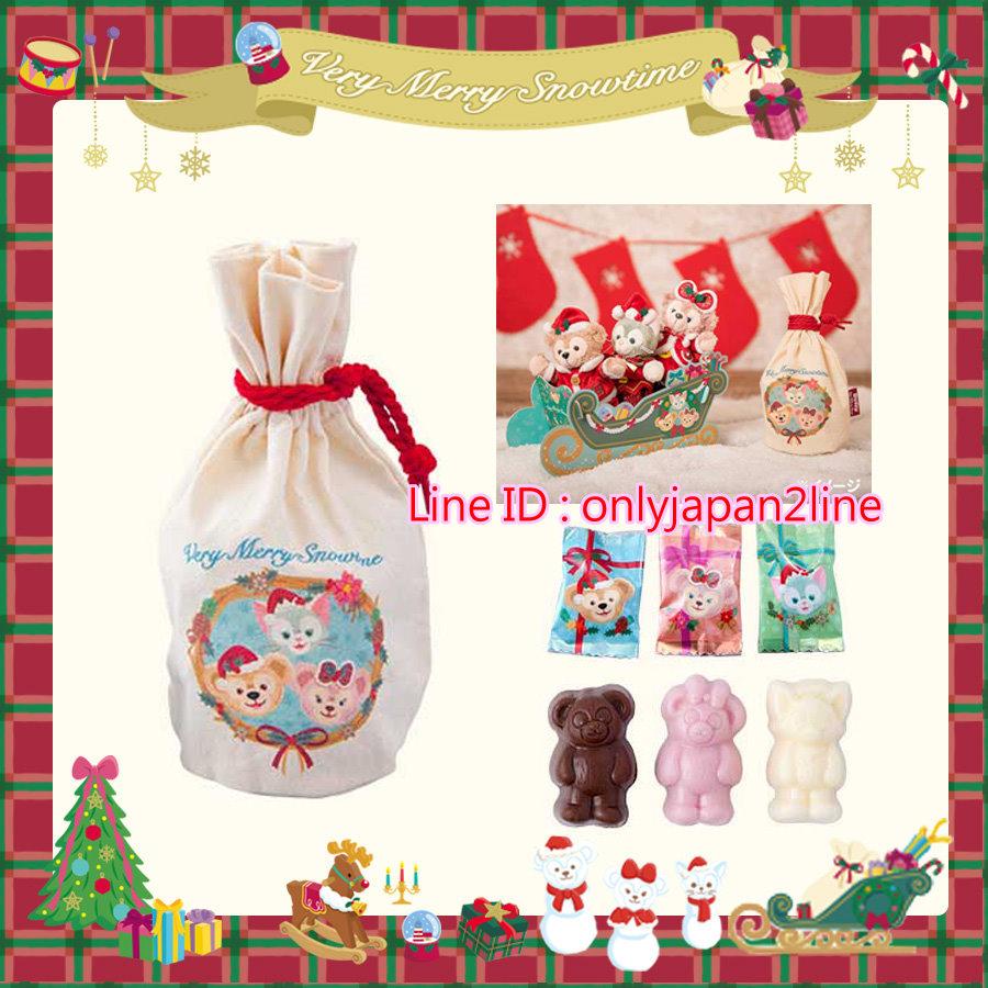 【真愛日本】16111200015聖誕節達菲好朋友雪橇盒帆布束口包   迪士尼 樂園限定  聖誕節  日本帶回