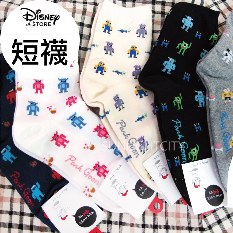 日光城。韓貨迪士尼卡通短襪,多款怪獸電力公司史努比大眼仔毛怪小小兵查理布朗史迪奇襪子