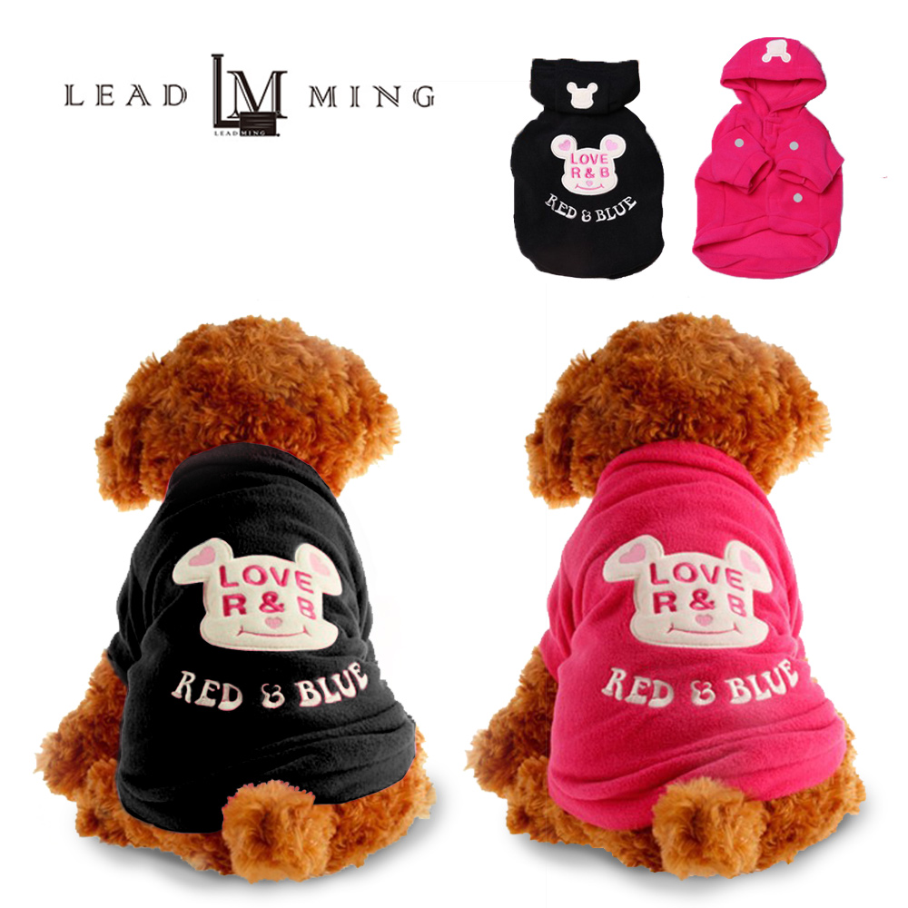 Leadming「P005」泰迪比熊連帽衣服 寵物外套 衣服 寵物