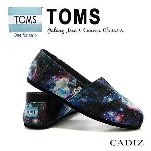 【Cadiz】美國真品正品 TOMS 黑色星球帆布休閒鞋 [Galaxy Men's Canvas/ 代購/ 現貨]
