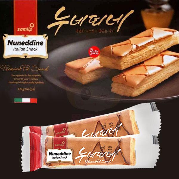 韓國 Samlip Nuneddine 義式焦糖奶油千層酥(1條入)【特價】§異國精品§