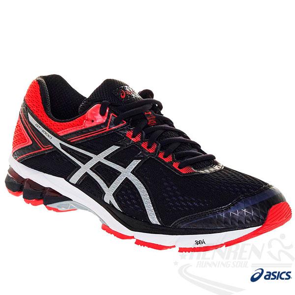 ASICS亞瑟士 男慢跑鞋 GT-1000 4 (4E) (黑*紅) 2015新品 高支撐