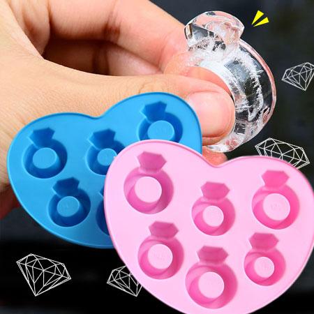 鑽石戒指製冰器 創意製冰格 鑽石冰塊 鑽戒冰塊 創意矽膠冰塊模型 製冰模具【N100577】