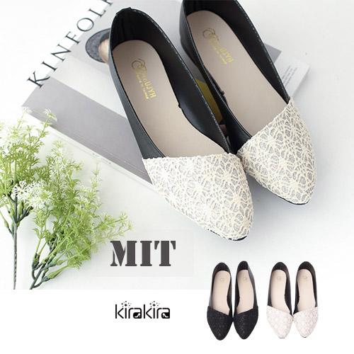 娃娃鞋- MIT浪漫緹花蕾絲娃娃鞋