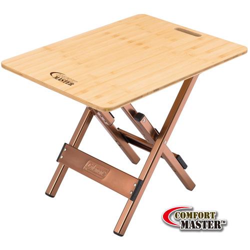 【露營趣】中和 附手電筒 Coleman  舒適達人竹邊桌 竹板桌 摺疊桌 休閒桌 CM-3123J