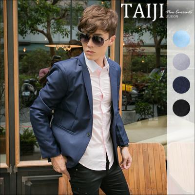 潮流西裝【NQX07】日韓風格.袖口排扣素色劍領西裝外套‧加大尺碼.四色‧休閒/窄/古著/口袋