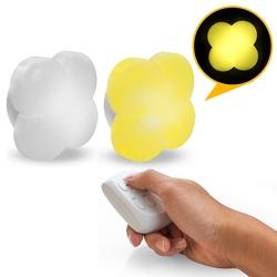 【迪特軍3C】aibo 小夜燈 USB充電式 幸運草造型 智能遙控燈 夜燈 壁燈 造型燈 (USB-67)
