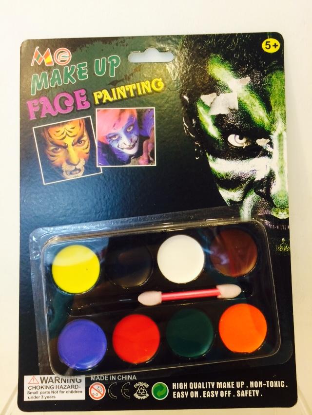 X射線【W150006】畫臉色盤,萬聖節服裝/派對用品/尾牙表演/角色扮演/臉部彩繪筆