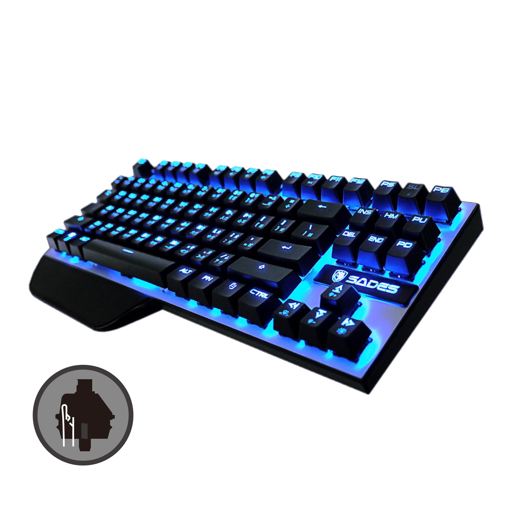【迪特軍3C】立光代理 SADES 賽德斯 Karambit 狼爪刀 機械式鍵盤 黑軸 繁體中文