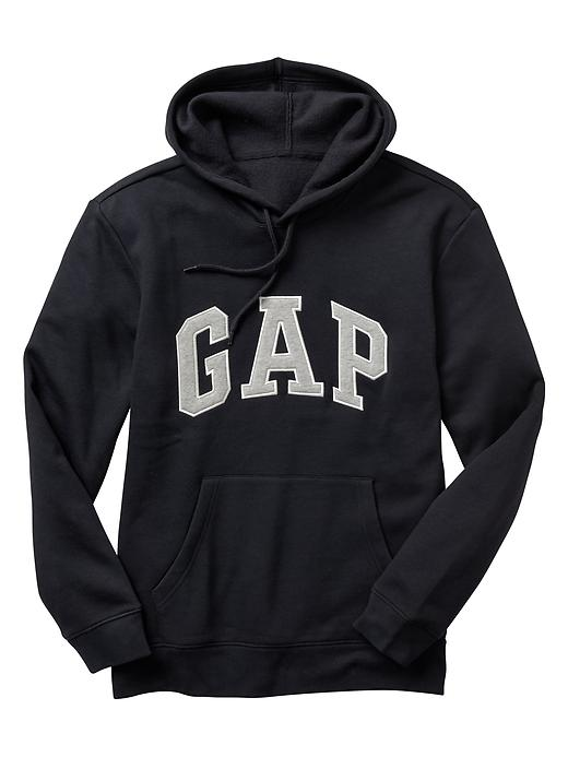 【蟹老闆】GAP【現貨】美國 GAP 經典文字LOGO款 男生 黑色灰字 長袖帽T
