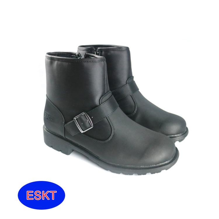 ESKT 男短筒雪鞋SN200/城市綠洲(雪靴 防潑水 防雪 刷毛 麂皮 冰爪)