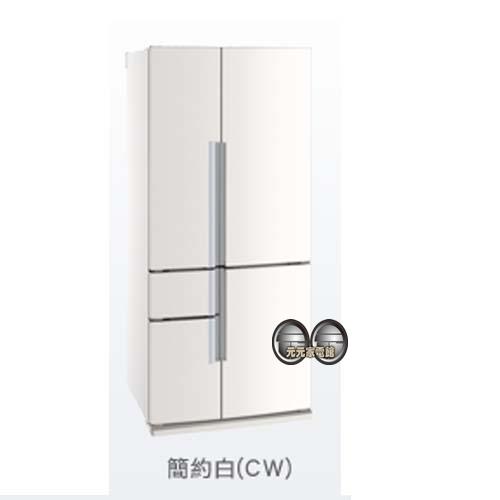 MITSUBISHI三菱645L日本原裝五門變頻電冰箱 MR-Z65W 簡約白~限區配送+基本安裝