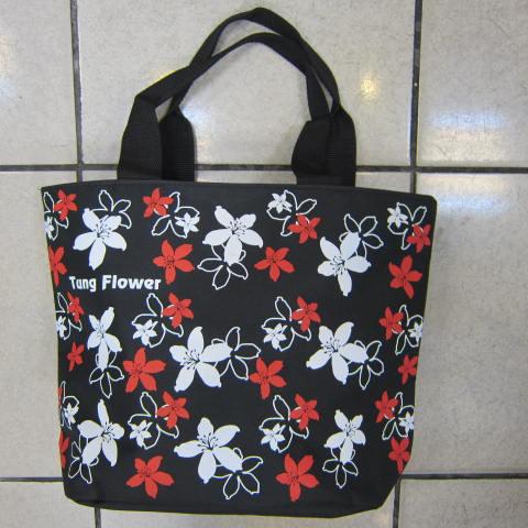 ~雪黛屋~Tung 手提袋簡單式手提袋可肩背防水尼龍布材質可放A4萬用簡單手提袋台灣製造#2866黑