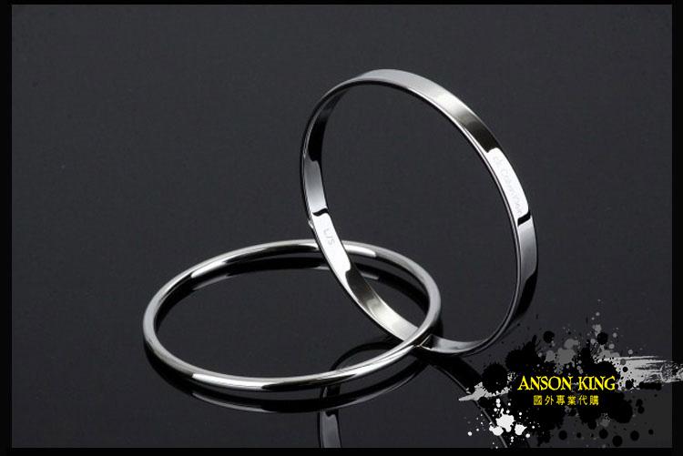 香港 專櫃正品 代購 CK Calvin Klein 凱文克萊 男女款 雙環 手環 手鐲 銀色