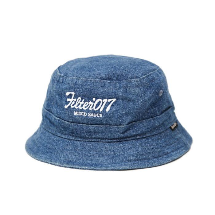 ►法西歐_桃園◄ Filter017 Bucket Hat Vintage Logo 復古 丹寧 牛仔 白 黑 漁夫帽 淺藍