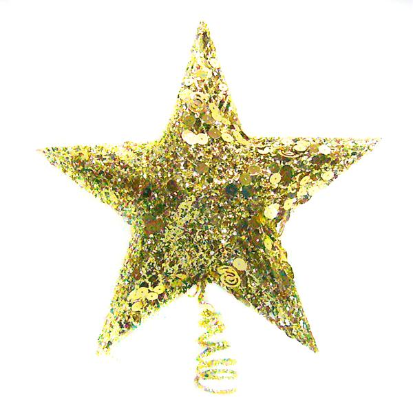 閃亮金網樹頂星(放置於聖誕樹頂部/5尺以上聖誕樹適用) YS-TT160001