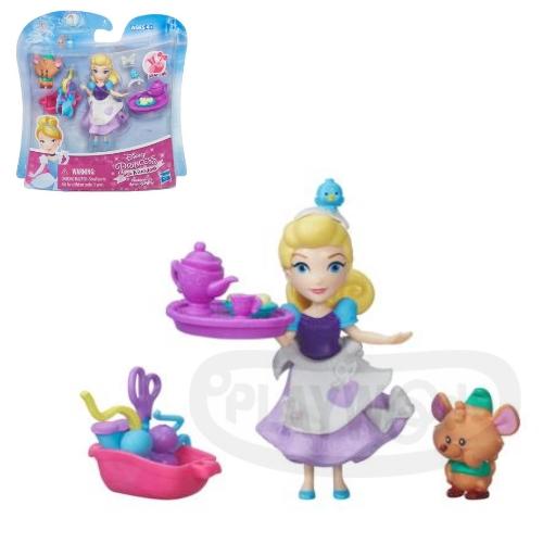 【Playwoods】[迪士尼公主Disney]迷你公主與朋友組:灰姑娘 仙杜瑞拉與胖老鼠Cinderella (玻璃鞋/南瓜馬車//孩之寶/娃娃Doll/童話/故事)