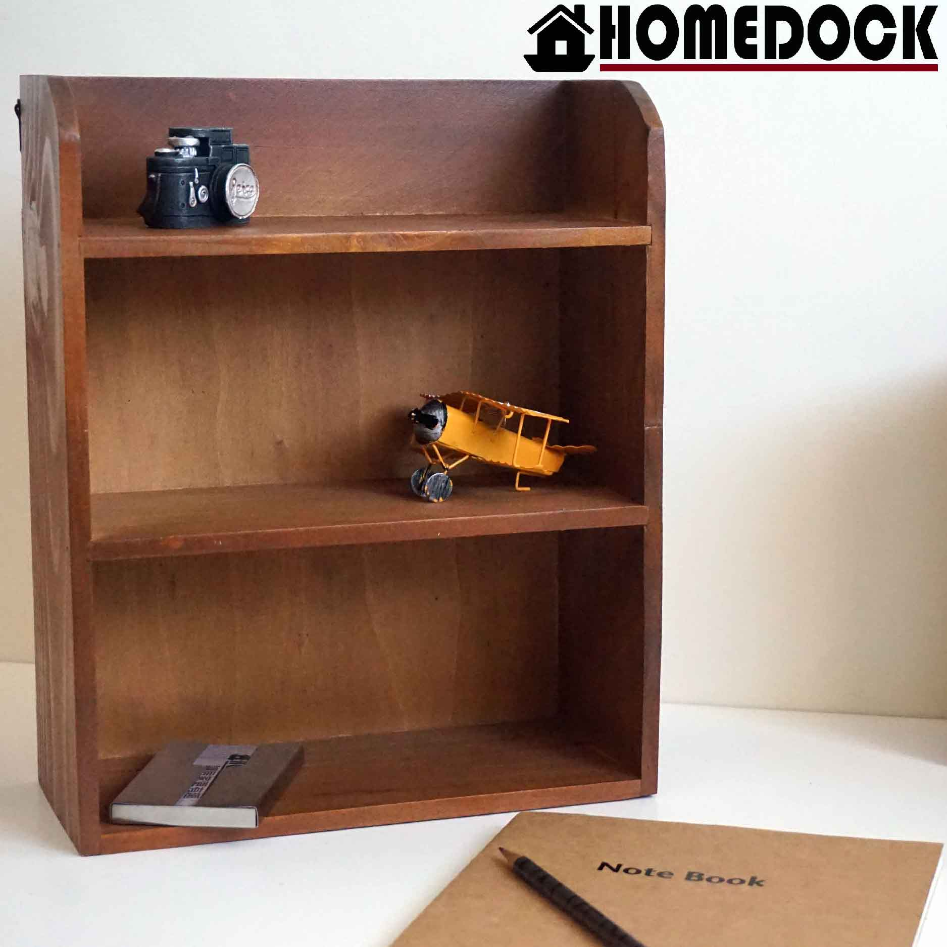 HOMEDOCK-原木質感三層式壁掛收納櫃  壁櫃/展示櫃/杯架/收納盒/原木/掛壁/壁掛/牆壁