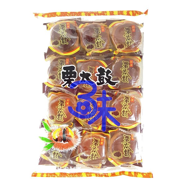 (日本) 日新堂 栗太鼓 1包 228公克 特價 120 元【4904224000159 】(栗太鼓饅頭 栗子饅頭 和果子 日式菓子 進口糕點)