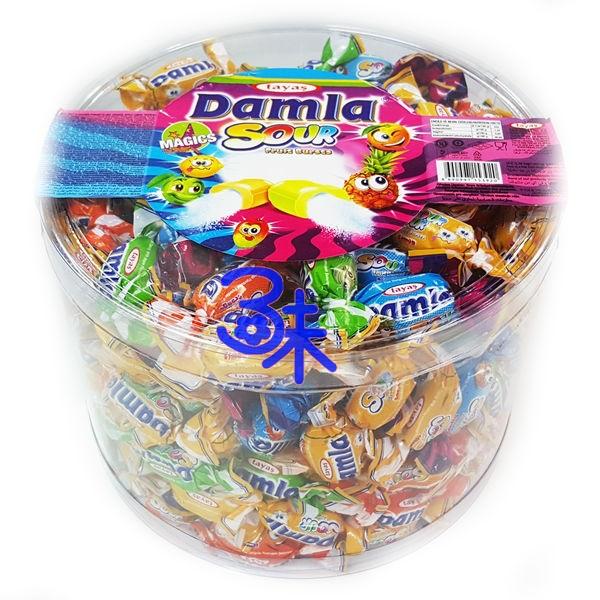 (土耳其) Tayas Damla sour fruit bursts 黛瑪拉什錦酸味軟糖 1桶 1000 公克 特價 160 元 【8690997153920】(超級炫酸酸糖 酸甜搗蛋糖 整人糖 萬聖節糖果)