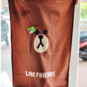 美麗大街【105051015】LINE 熊大造型毛毯冷氣毯正版授權大臉款