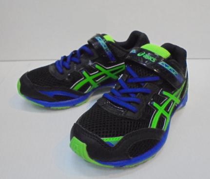 [陽光樂活]ASICS 2016新品 舒適透氣 兒童運動鞋  C6C8N-9085 黑鮮綠