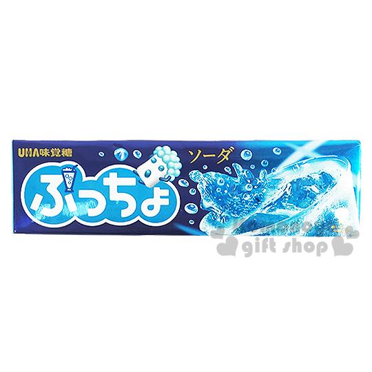 〔小禮堂〕日本原產 UHA味覺糖 噗啾汽水軟條糖《50g》
