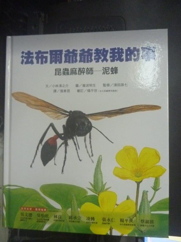 【書寶二手書T1/兒童文學_YJO】昆蟲麻醉師-泥蜂_小林清之介