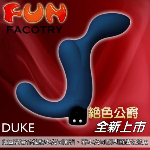 [漫朵拉情趣用品]德國【Fun Factory】毀滅公爵杜克-男性前列腺按摩器(深藍)(充電式)(附贈USB充電線) DM-9163515