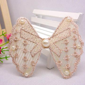 WallFree窩自在 鏤空蕾絲/珍珠/鑲鑽魔法瀏海貼片-珍珠蕾絲39