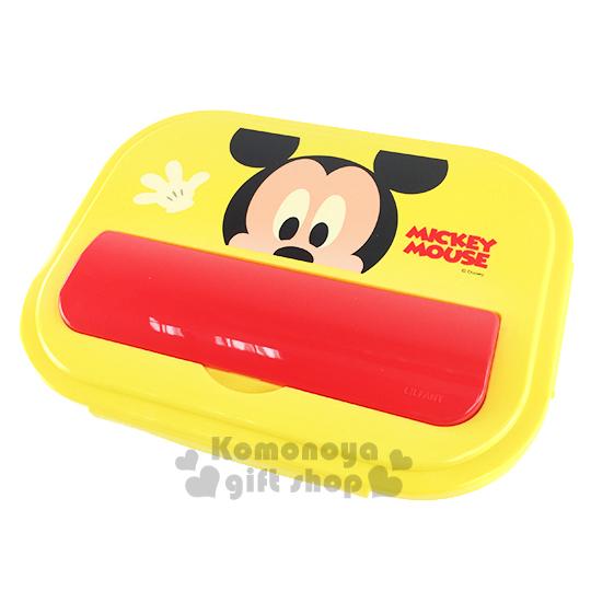 〔小禮堂韓國館〕迪士尼 米奇 不鏽鋼餐盤式便當盒《黃.大臉》