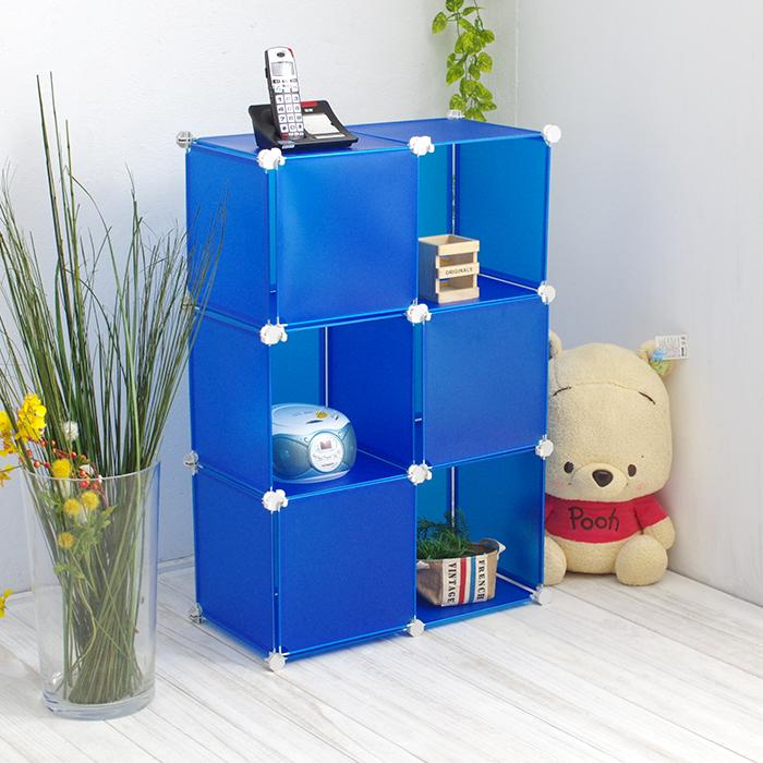 塑膠組合櫃 6格3門收納櫃 隔間屏風 櫃子 【YV6603】快樂生活網
