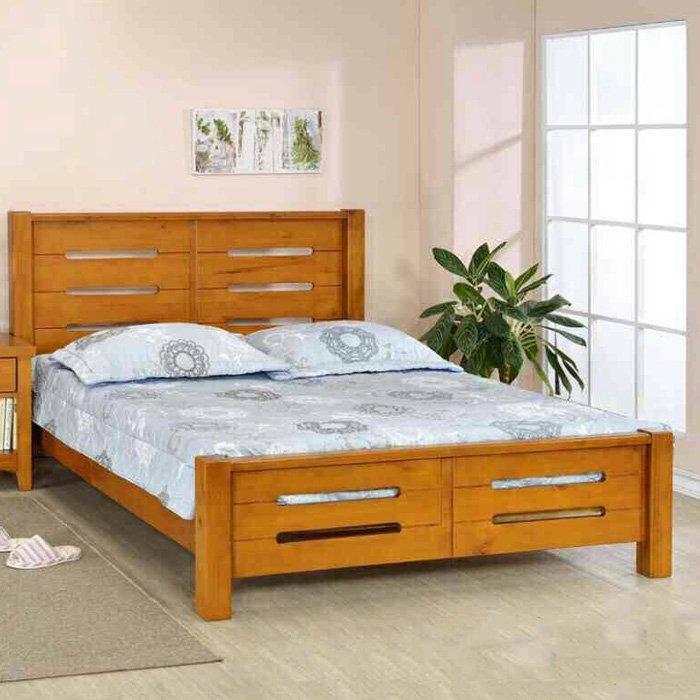 【尚品傢俱】662-28 赤阪 全實木5尺床架~另有3.5尺、6尺床架/雅房床架/套房床台/臥室床架/寢室床台