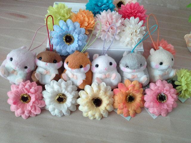 ~*My 71*~  絨毛娃娃 5cm 圓松鼠 可愛 動物 吊飾 玩具 禮物 情人 兒童