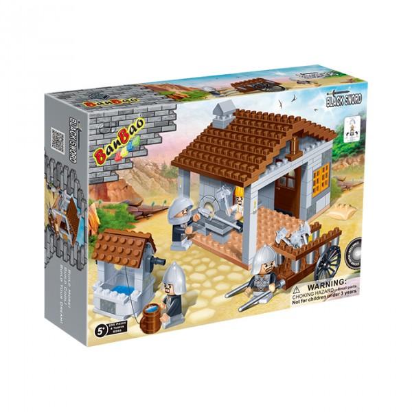 【BanBao 積木】城堡系列-兵器舖 8266  (樂高通用) (單筆訂單購買再加送積木拆解器一個)